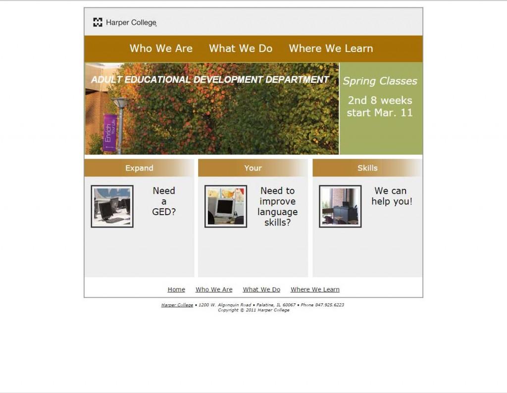 Adult Educational Department
