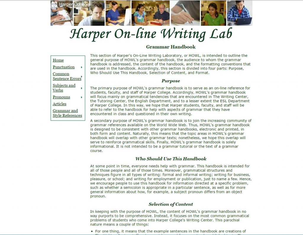 Harper Onilne Writing Lab